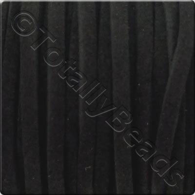 Suede Cord Black - 3mm - 5m Spool