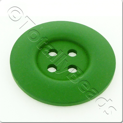 Wooden Button 50mm - Green