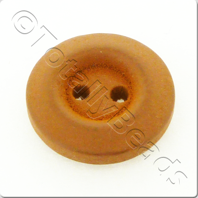 Wooden Button 15mm - Coffee