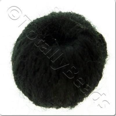 Wool Bead 22mm - Black