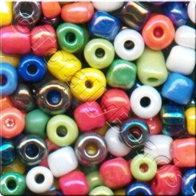 Seed Beads Opaque Rainbow  Mixed - Size 11