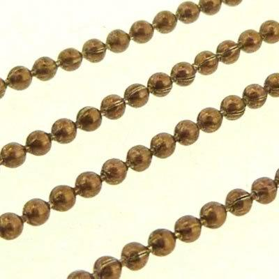 Ball Chain 1.5mm - Metallic Bronze - 1m