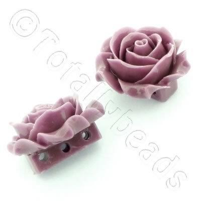 Acrylic Rose 35mm 3 Rows - Light Amethyst