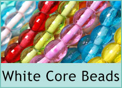 White Core Glass Beads