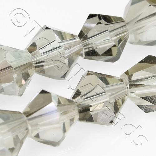 Crystal Bicone 8mm - Silver Dust