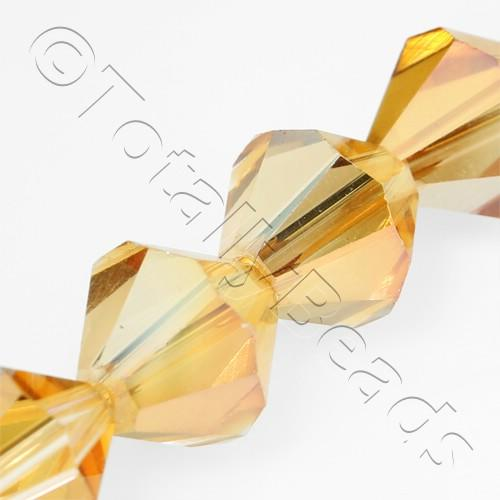 Crystal Bicone 10mm - Half Orange 30pcs
