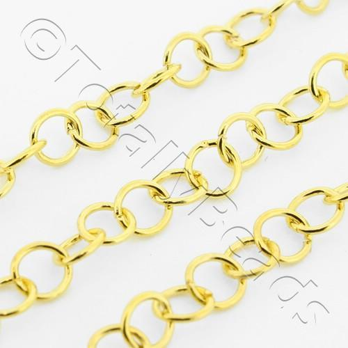 Chain Gold Plated - Round Link 4mm Thin