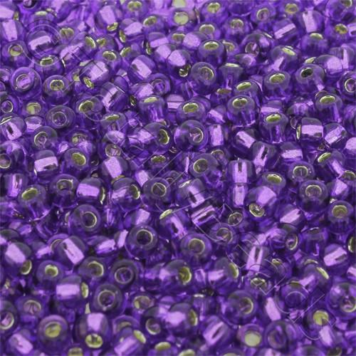 Toho Size 6 Seed Beads 10g - Silver Lined Purple