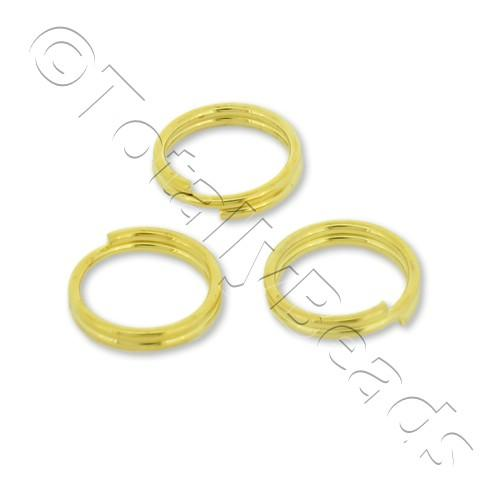 Split Rings 8mm - Gold Plated