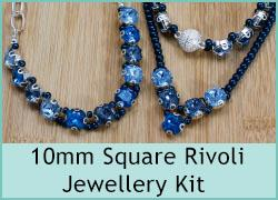 10mm Square Rivoli Jewellery Kits