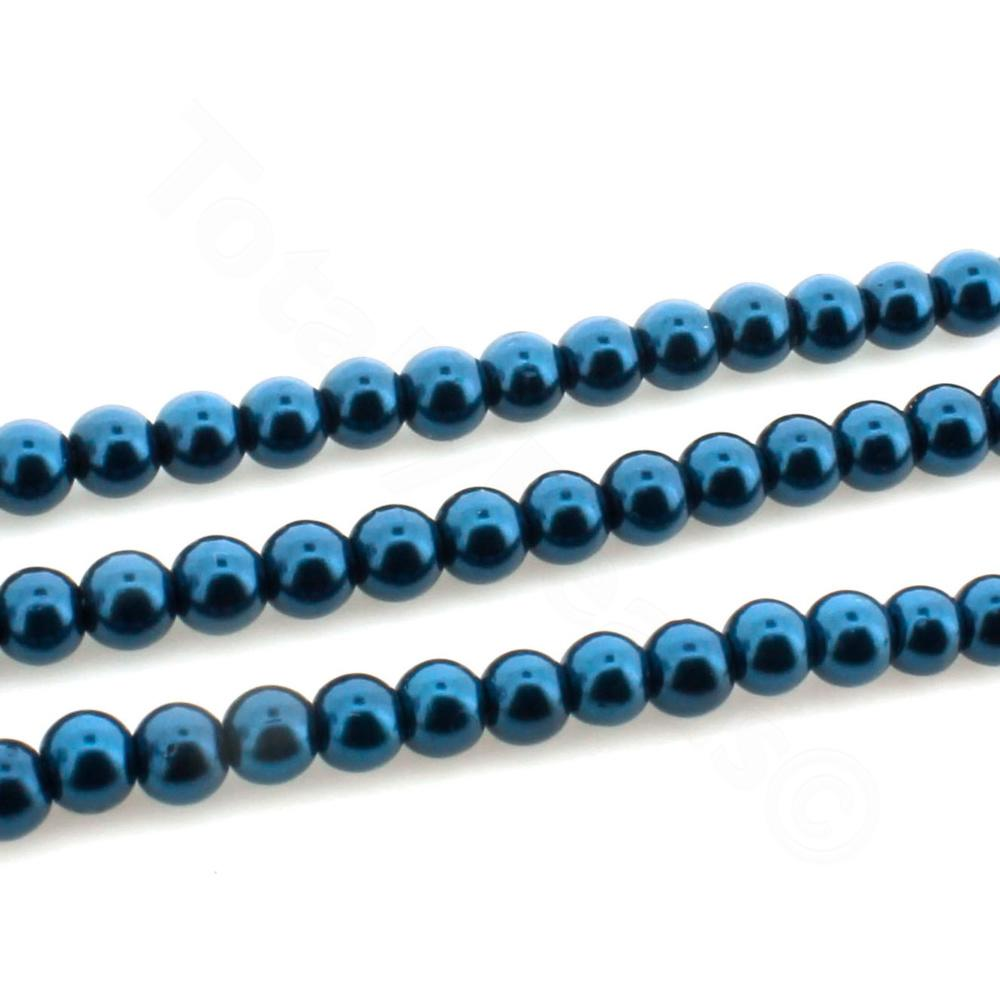 Glass Pearl Round Beads 4mm - Montana