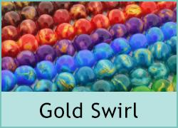 Gold Swirl Glass Beads