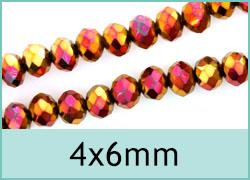 4x6mm Crystal Rondelles