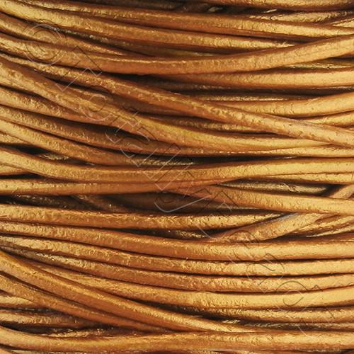 Leather Cord 1.5mm - Copper 1m length