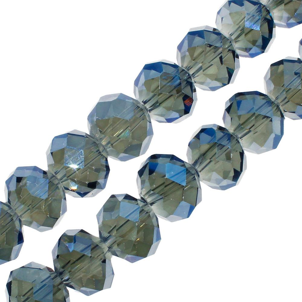 Crystal Rondelle 8x10mm - Midnight Blue