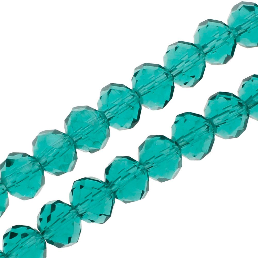 Crystal Rondelle 6x8mm - Teal