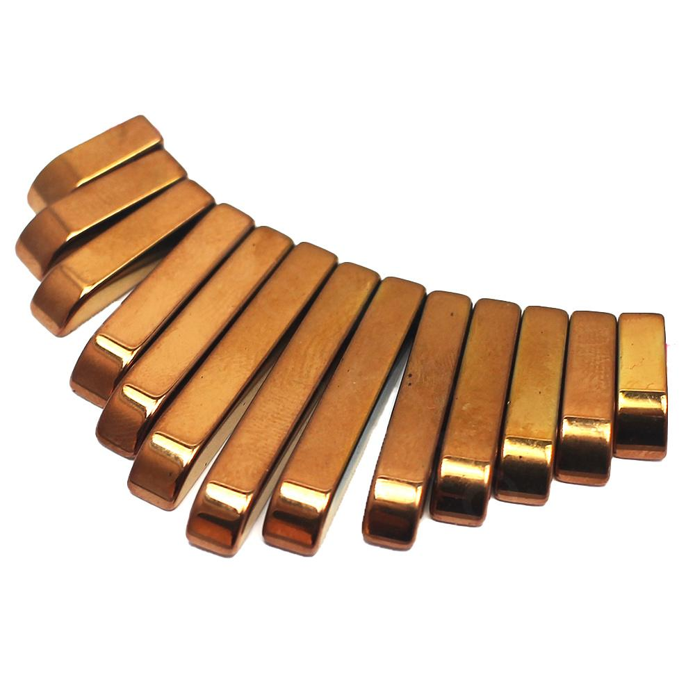 Hematite Egyptian Collar 13pc Bronze Plated