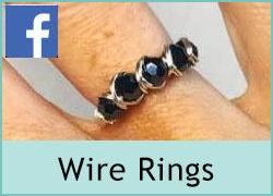 Wire Wrapped Crystal Rings - 7th June