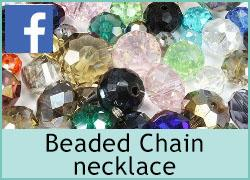 Beaded Chain necklace - 23rd October