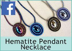 Embroidery Hematite Pendant Necklace - 29th October