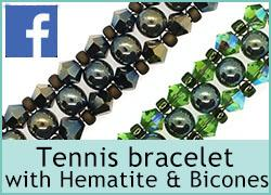 Tennis Bracelet with Hematite & Bicone Beads - 17th November