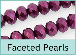Faceted Glass Pearls