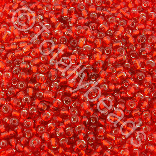 Seed Beads Silver Lined  Red - Size 11