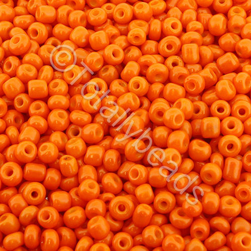 Seed Beads Opaque  Orange - Size 8
