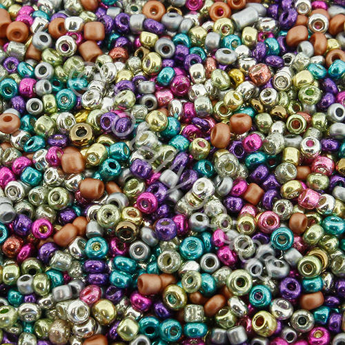 Seed Beads Metallic  Mixed - Size 11
