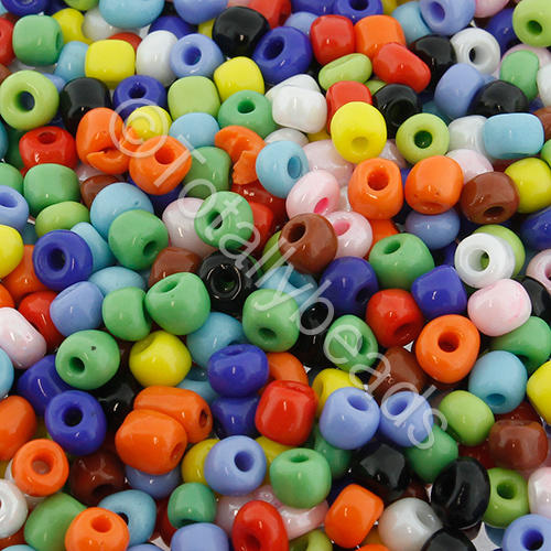 Seed Beads Opaque  Mixed - Size 6
