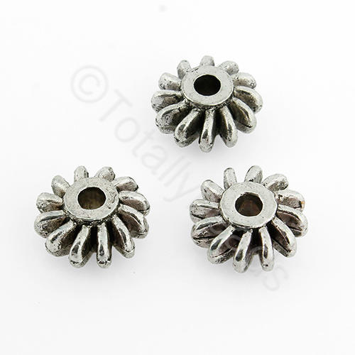 Tibetan Silver Bead - 12mm Spacer