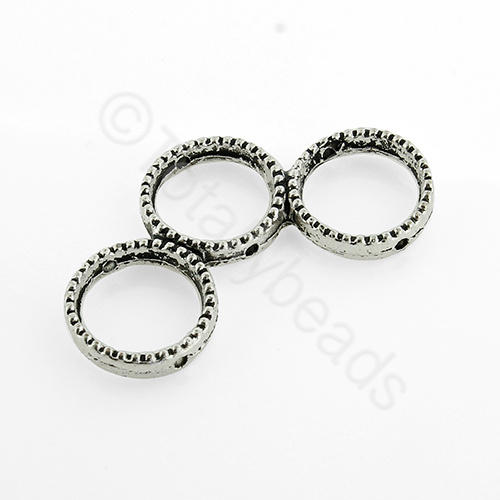Antique Silver Metal Spacer Rings 35mm 4pcs