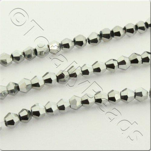 Crystal Bicone 2.5mm - Silver Plate