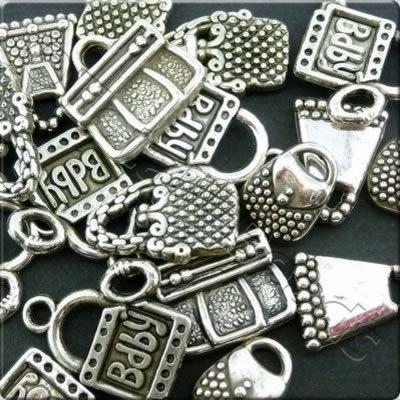 Acrylic Charms - Antique Silver - Bags