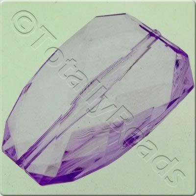 Acrylic Facet Rectangle 40mm - Lilac