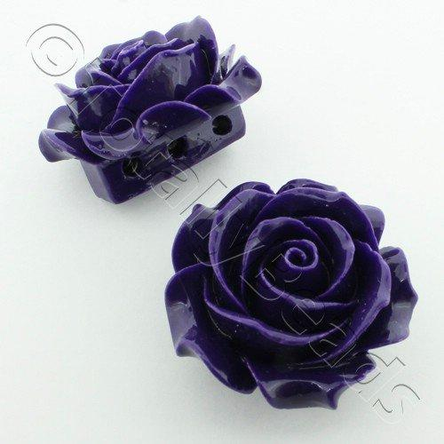 Acrylic Rose 35mm 3 Rows - Dark Purple