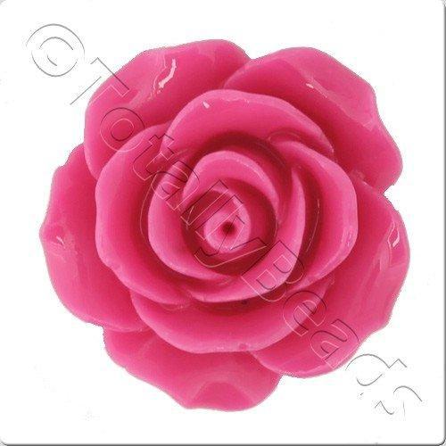 Acrylic Rose 25mm 2 Row - Dark Pink