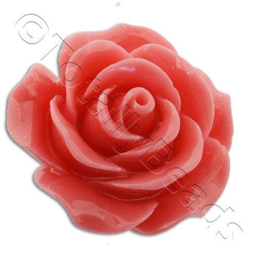 Acrylic Rose 25mm 1 Row - Coral