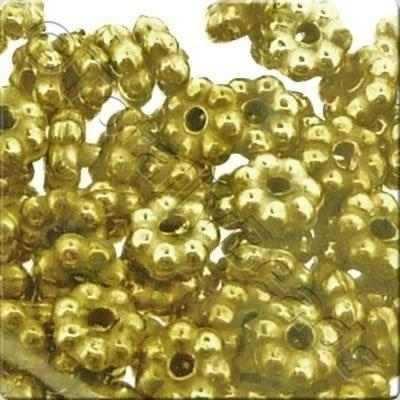 Acrylic Antique Gold Bead - 5mm Flower
