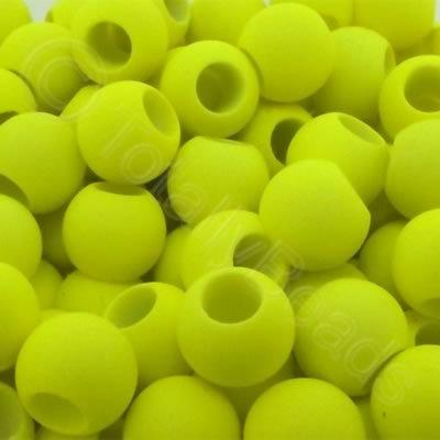 Acrylic Beads 10x8mm - Neon Yellow
