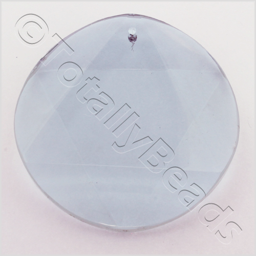 Glass Pendant 6 Point Disc 50mm - Lilac