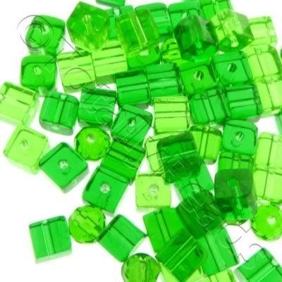 Bead Mix - Crystal Green 4mm