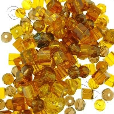 Bead Mix - Golden Brown Crystals