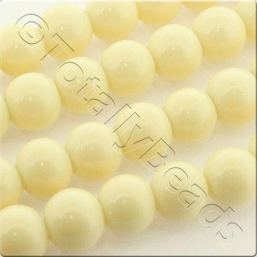 Glass Bead Round 8mm - Cream