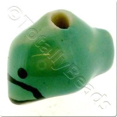 Ceramic Animal Bead - Dolphin