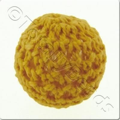 Crochet Bead 22mm - Peach