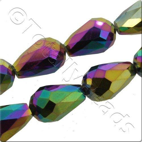Crystal Drop 10x15mm - Rainbow