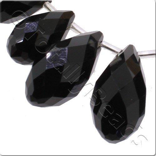 Crystal Drop Set 3 Sizes - Jet Black