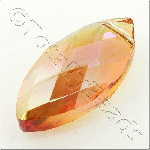 Crystal Eye Bead 32mm - Amber