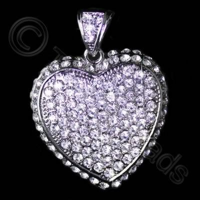 Diamante Pendant - Heart 46mm